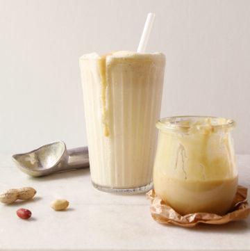 Milkshake au beurre de cacahuète