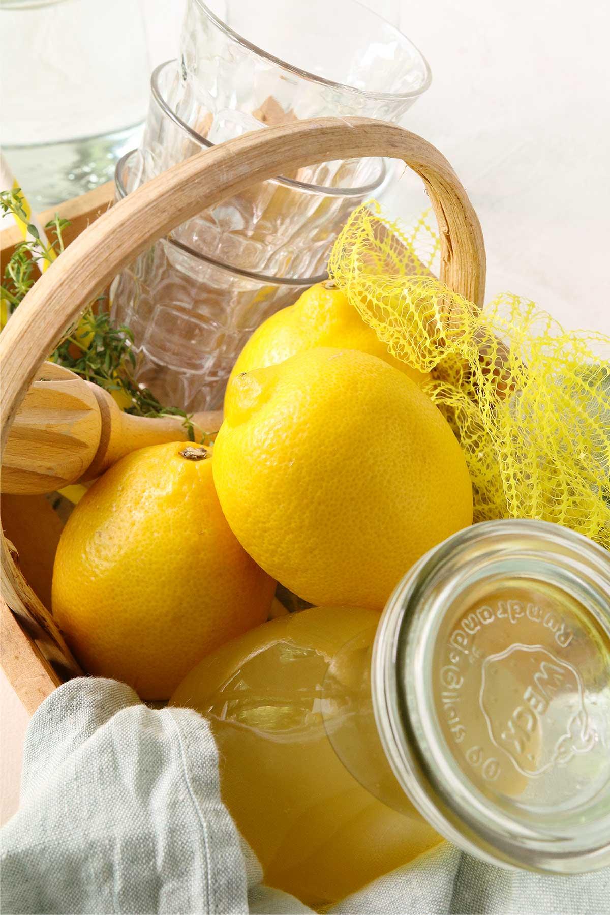 Un sirop de citron au thym