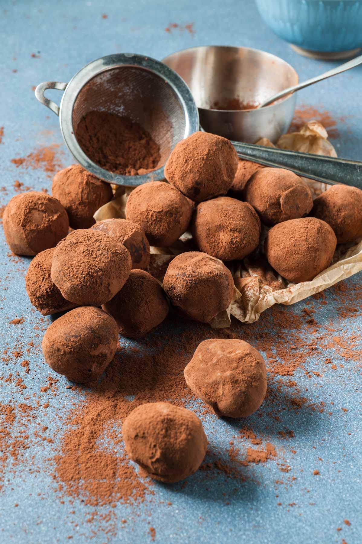 Truffes double chocolat