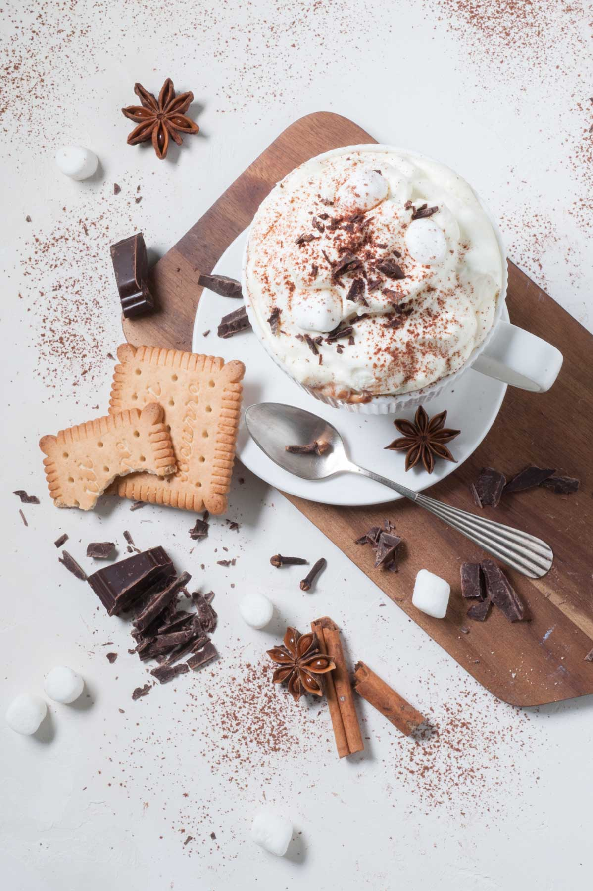 Chocolat chaud à la coriandre