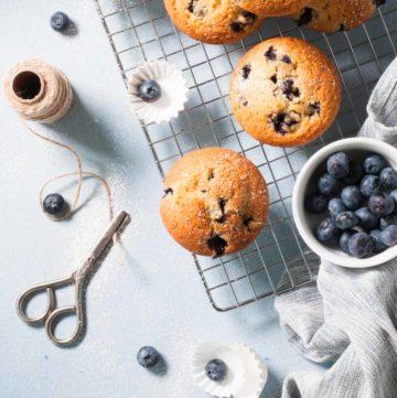 Des muffins aux myrtilles ultra moelleux !