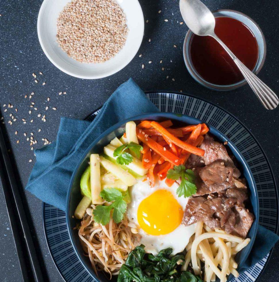 Bibimbap, un repas venu de Corée