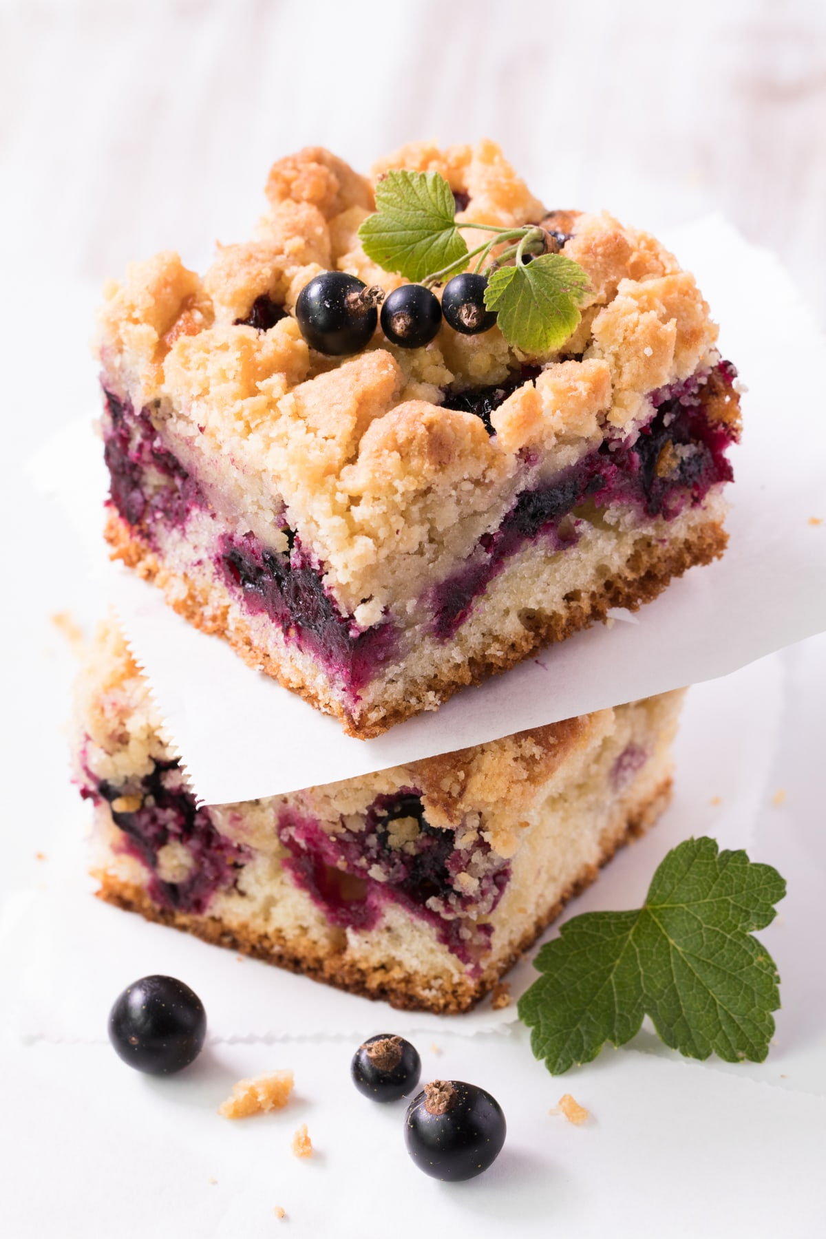 Crumb cake cassis amande