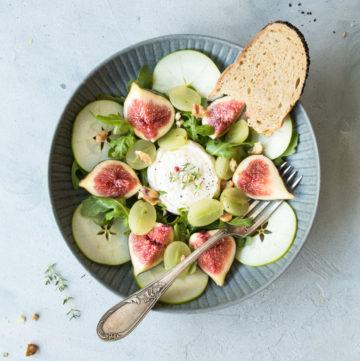 Salade de rocamadour aux figues